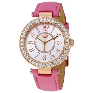 Juicy Pink Leather Watch